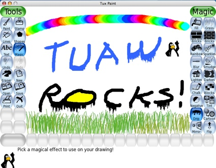 Tux Paint: Open Source Kids Paint Program