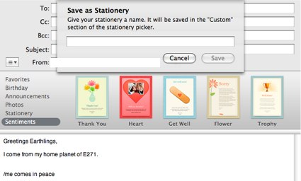 email stationaries