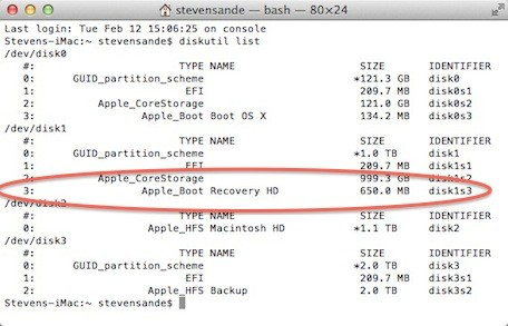 macbook recovery partition