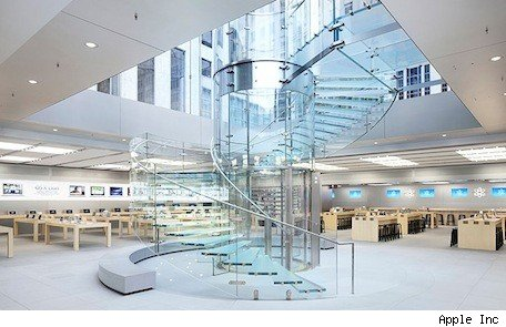 spaceship campus architecture firm to revamp apple retail stores